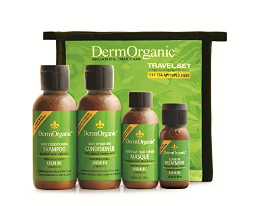 DermOrganic Argan Oil Hair Care Travel Set, 4 Count