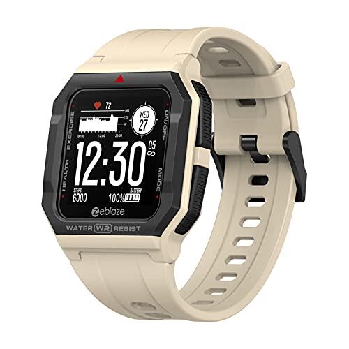 Chihuo Zeblaze Ares Smartwatch Bluetooth 5.0 Medición de frecuencia cardíaca Reloj Inteligente 3 ATM 15 días de duración de la batería Reloj para iOS y Android (Khaki)