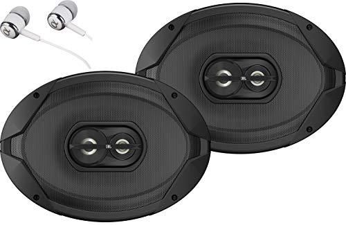 "JBL GT7-96 210W Peak Power 6"" x 9"" 3-Way GT7-Series Coaxial Car Audio Stereo Coaxial Speakers Bundled with Earbuds"