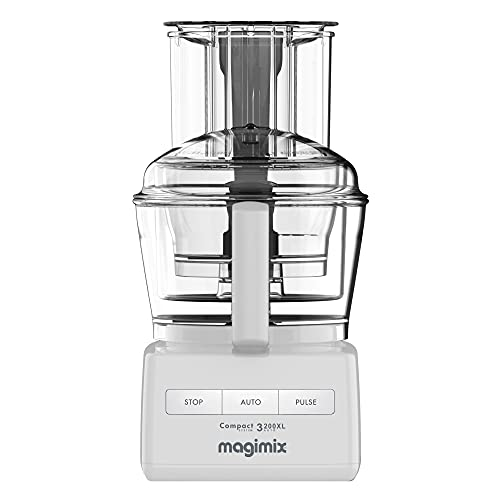 Magimix Compact System 3200XL Food Processor, White, 18370