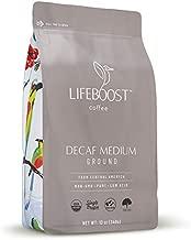 Lifeboost Coffee Medium Roast Swiss Water Decaf Coffee Ground - Low Acid Single Origin USDA Decaf Organic Coffee - Non-GMO Coffee Third Party Tested For Mycotoxins & Pesticides - 12 Ounces