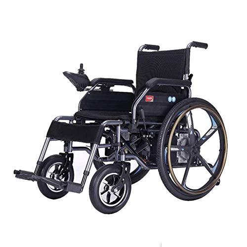 NOLLY Silla De Ruedas Eléctrica, Plegable, De Aluminio, con Motor, para Discapacitados, Minusválidos, Ancianos, Ortopedica, para Mayores