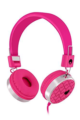 Rockpapa 878 Amor Auriculares on Ear con Cables 1.5 m sin micrófono, Ideales para niños/Adolescentes (Rosado)