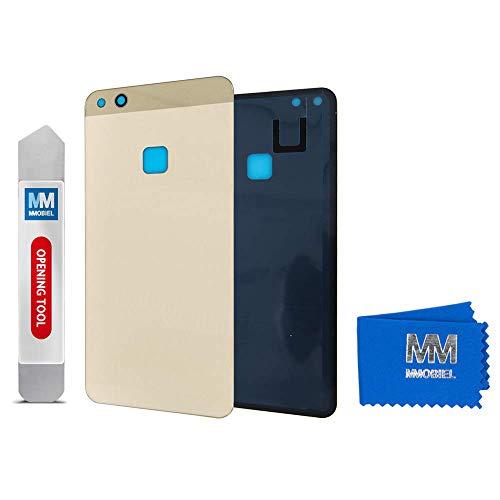 MMOBIEL Tapa de Bateria Cubierta Trasera de Vidrio Compatible con Huawei P10 Lite 2017 5.2 pulg (Oro Platino)