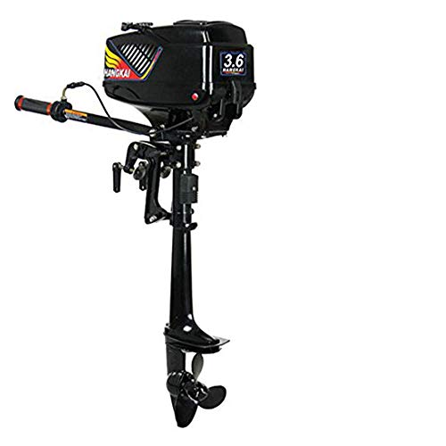 Great Price! Xianxus Outboard Motor 3.6HP 2 Stroke Boat Engine Short Shaft w/Water Cooling System