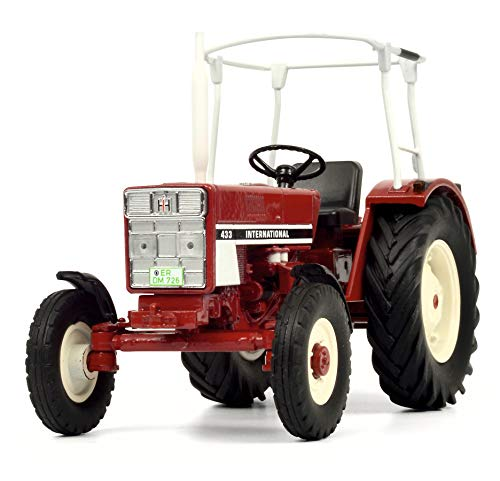 Schuco 450779300 - International 433, tractor met beugel, modelauto, 1:32, rood