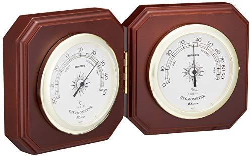 エンペックス気象計 温度湿度計 インペリアル温湿度計 置き用 日本製 ブラウン TM-711