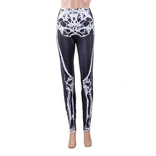 Een paar BFD dames dames bedrukt tattoo leggings of glanzende leggings een maat