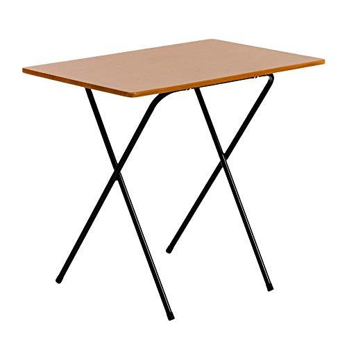 Klappschreibtisch für Laptop/Computer - Holz - Schwarzes Gestell/Tischplatte in Holzoptik