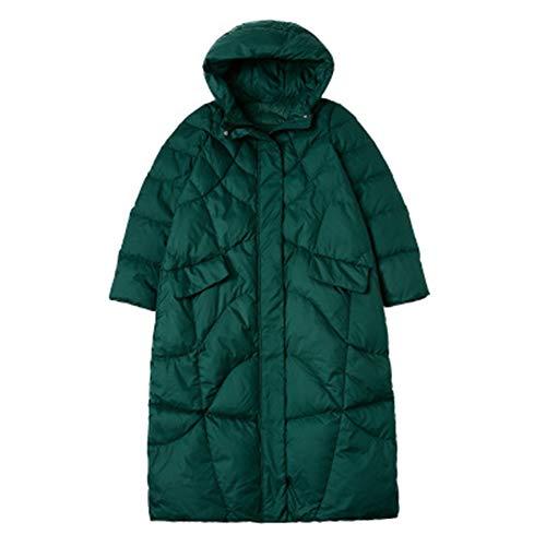 GXYAS Puffer Jacket Vrouw, 90 Witte Eend Down Dikke Warm Slanke Lange Jas Temperament Commuter Winterjas