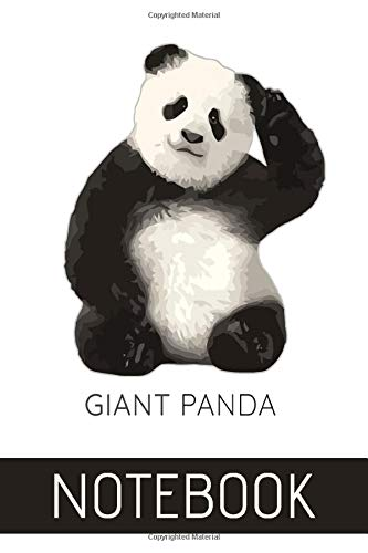 Giant Panda: Notebook Journal Gift For Panda lovers (120 Pages, Ruled Notebook Paper, 6 x 9 Journal, Glossy finish cover)