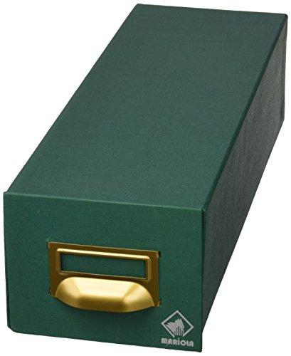Mariola 1-1000 - Fichero cartón forrado en Geltex para 1000 fichas dimensiones 125 x 95 x 350 mm, color verde ✅