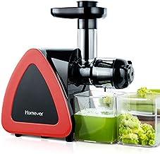 Extracteur de Jus, Homever Slow Juicer de Fruits et Légumes avec Moteur Silencieux et Fonction Inverse, Conservez nutritio...