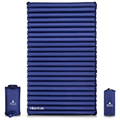 👐 𝐏𝐔𝐌𝐏 𝐒𝐀𝐂𝐊 𝐌𝐎𝐃𝐄𝐋【Ultra-light ,Compact & PVC free】 Hikenture double sleeping pad measures 78.7x47.5x3.75 inches, folded size is 14x6 inches. The two person camping mat weighs only 3.64 lbs (58 oz), comes in a multi-functional storage bag which can be...