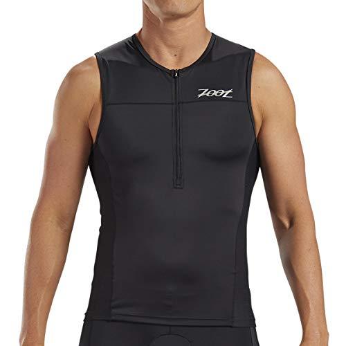 Zoot Men's Core Tri Tank - Performance Triathlon Top with Mesh Panels and 3 Pockets (Black, Medium)