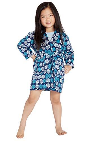 INTIMO Toddler Hanukkah Dreidel Robe Blue
