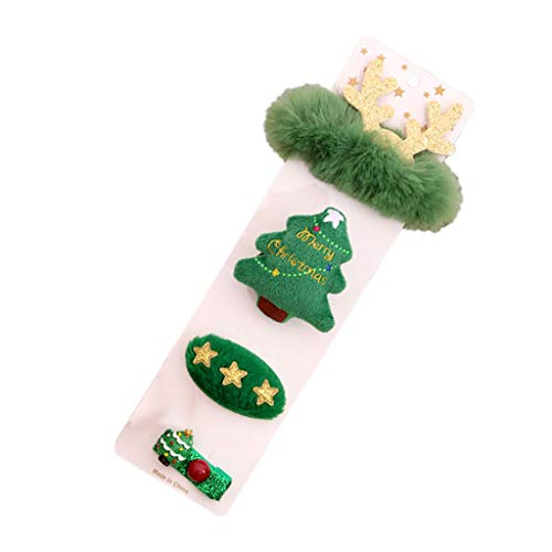 Xmiral Weihnachten Brosche Haarnadel Armband Weihnachtsgeschenkset Weihnachtsschmuck für Kinder Erwachsene(B)