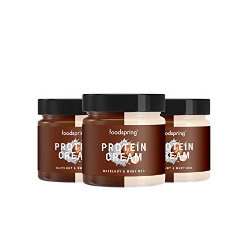 foodspring Protein Cream Duo, 3 x 200g, Haselnuss & cremige Milch, 2x mehr Geschmack bei 85% weniger Zucker