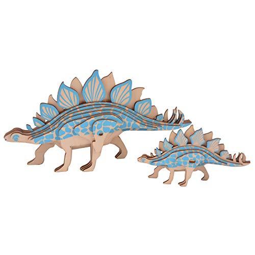 KTYRONE Rompecabezas Educativo para niños Rompecabezas de Animales de Dibujos Animados 3D Juguete Rompecabezas Creativo Regalo (Stegosaurus)