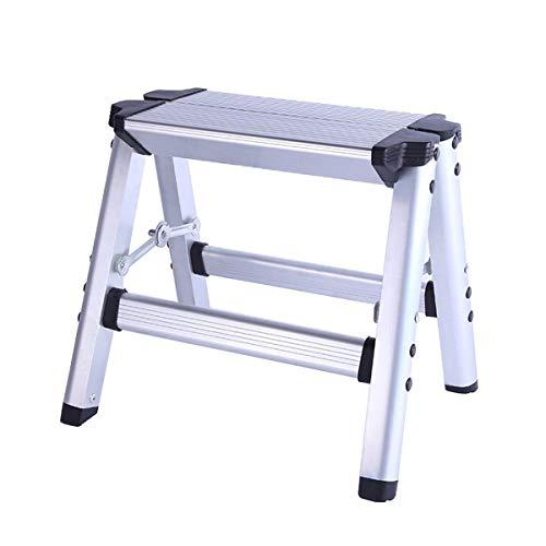 Escalera plegable taburete banqueta Escaleras de taburete pequeñas de 2 escalones, Carga...