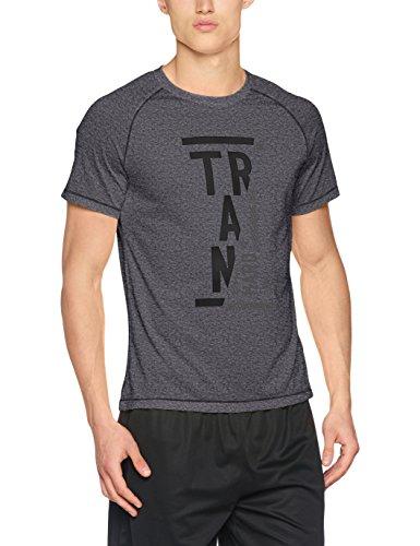 Odlo Short Sleeve Crew Neck Raptor T- T-Shirt Homme, Gris, Petit