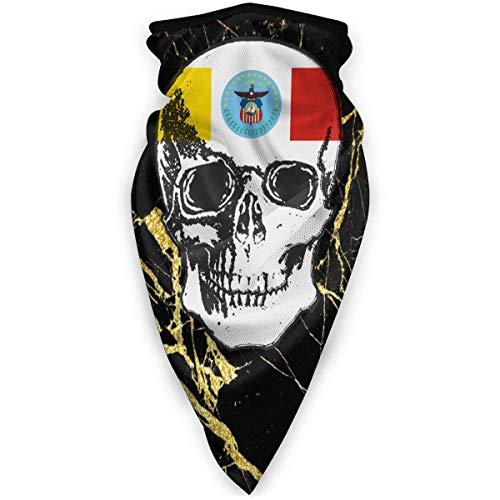 Nother Bufanda 3D con diseño de calavera de la bandera de Colón a prueba de viento al aire libre, pasamontañas, bandana para mujer