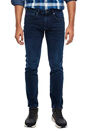 s.Oliver Jeans Fit Keith Slim, Blue Denim Stretch, 34W / 34L Uomo
