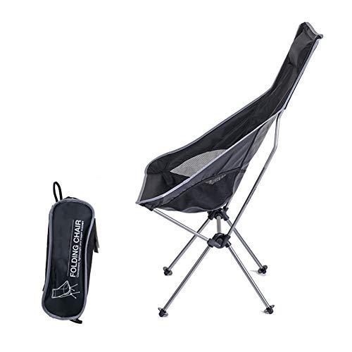 Apxzc campingstoel met hoge rugleuning, licht en compact, met hoofdsteun, houder van aluminiumlegering, stof 600D Oxford, ademend en comfortabel, voor vistuin
