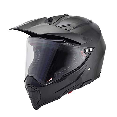 Woljay Off Road Helm Motocross-Helm Motorradhelm Motocrosshelme Fahrrad ATV - Klar Visier (M, Schwarz)