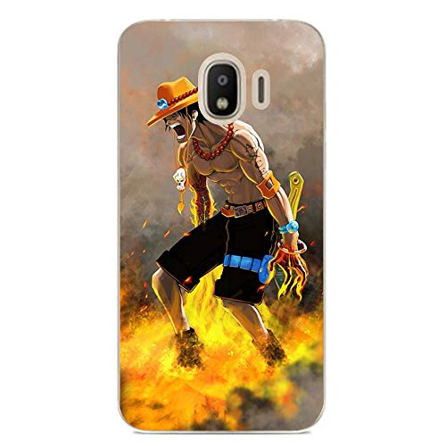 Be-better Case for Samsung Galaxy J2 PRO 2018, One-Piece Anime-Luffy 8 Ultra Clear Coque Thin Soft TPU Rubber Anti-Slip Phone Cover