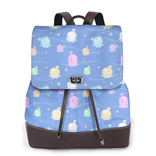 Womens Travel Backpack Bubble Jellies Genuine Leather Bags Purse