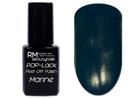RM Beautynails UV Peel Off Polish Lack Nagellack Marine Blau 12ml Inhalt