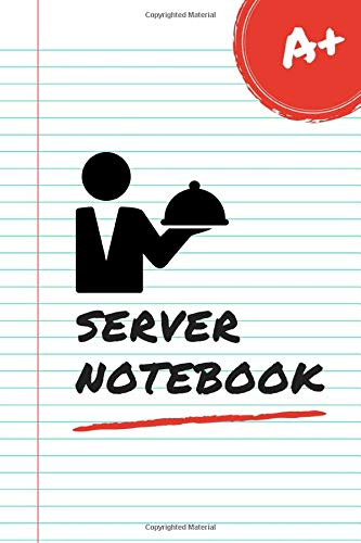 Server Notebook: Funny Server Gifts For Men Or Women. Journal To Write In With Lined Pages