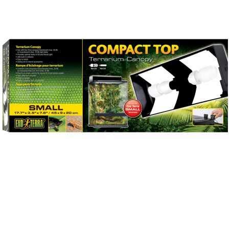 Exo Terra Compact Top Terraria-afdekking, 45 x 9 x 20 cm, 2 Lampen
