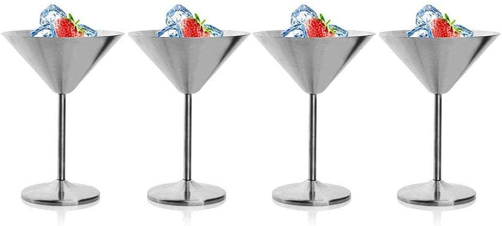 qiuqiu 4pcs Martini Cocktail Glass Stainless Steel Gobl online Memphis Mall shopping 304 Set