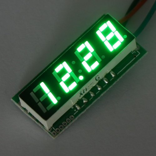 "RioRand Green Small DC Digital Display Voltage Tester Meter (0.28"" Car Motorcycle Panel Voltmeter LED 0-33V)"