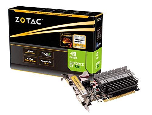 ZOTAC GeForce GT 730 Zone Edition 4GB DDR3 PCI Express 2.0 x16 (x8 lanes) Graphics Card (ZT-71115-20L) (Renewed)