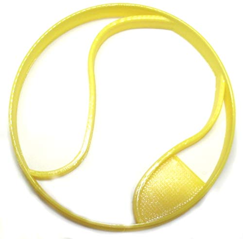 TENNIS BALL SPORT ATHLETICS HOLLOW RUBBER FELT COVER SINGLES DOUBLES US OPEN MASTERS SPECIAL OCCASION COOKIE CUTTER BAKING TOOL 3D PRINTED MADE IN USA PR2500
