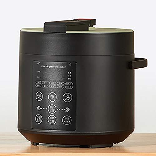 XIAOFEI Riz Cuisinier Autocuiseur Électrique Programmable Ragoût La Poêle avec Non- Bâton Pot 24 Heures Garder Chaud Fonction Lent Cuisinier, Garde Nourriture Chaud 2L,Noir