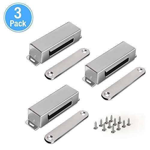 Vockvic 3 Stücke Magnetschnäpper, Starker Magnet Türschließer Tragbarer Safe Magnetverschluss Schrank für Schlafzimmer Küche Kleiderschrank Schranktür Schublade