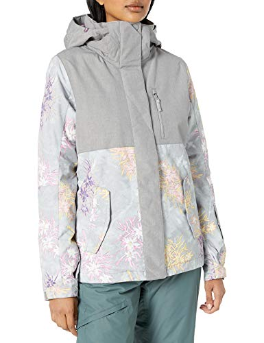 Roxy Snow Junior's Jetty Block Jacket, Micro chip Edelweiss, M