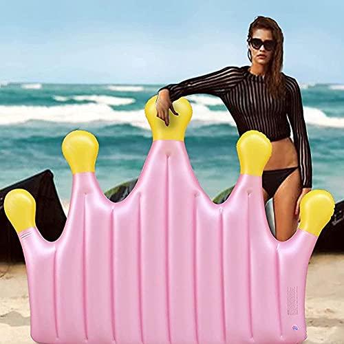 Lady of Luck Aufblasbare Wasser Pool Rosa Krone Floß Pool Float Luftmatratze Sommer Strand Pool Party Spielzeug für Kinder Erwachsene(Rosa Krone)