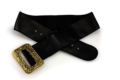 Sunnywood Leatherette Santa Belt Adult Costume, Black,