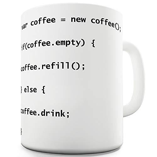 TWISTED ENVY, originelle Kaffeetasse/Geschenktasse für Programmierer, aus Keramik, mit Coffee Codes