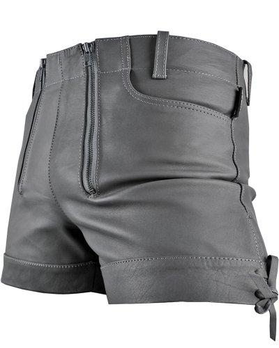 Bockle Kurze Zimmermann Lederhose Leder Short Gray Pants Oktoberfest, Size: W33/L30