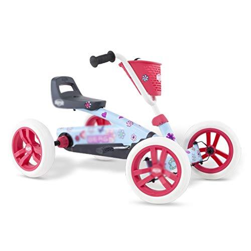 Karting Pink Princess Kart À Quatre Roues Kart Bébé Poussette Jouet Poussette Racing Volant Design Siège 3 Réglable, Pédale Dead Fly Design (Color : PINK, Size : 83 * 49 * 50CM)