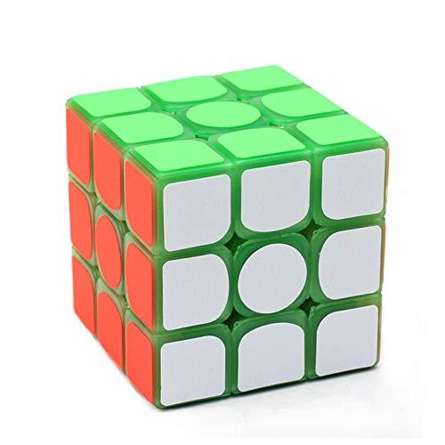 LinGo Cubo Mágico El Plastico Cubo Fluorescente 3X3 Speed Cube No Tóxico E Insípido Puzzle Cube Juguete Educativo Rompecabezas para Navidad Regalo De Acción De Gracias Niños Adultos