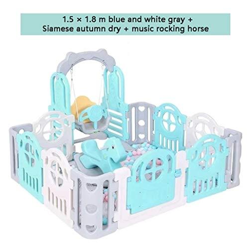 Best Price! Baby Vivo Large Baby Plastic Big Playpen Foldable Portable Room Divider Child Kids Barri...