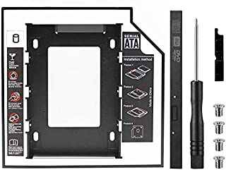 """SOLDOUT SATA 3.0 2nd HDD Caddy 9.5mm 2.5"""" 2TB SSD Case Hard Disk Enclosure with LED for Laptop DVD-ROM Optical Slot"""