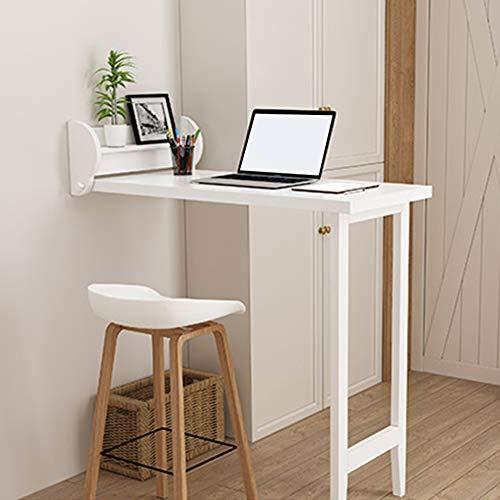MFZJ1 Wandklapptisch Klapptisch,Wandtisch In Weiß Mit Regal Klapptisch Esstisch Küchentisch,Tisch Kindermöbel.Größe:518 X 1081 X 1018mm. FSC®